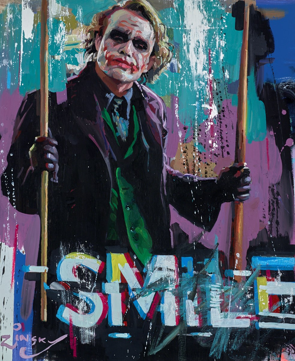 Smile by zinsky -  sized 20x24 inches. Available from Whitewall Galleries